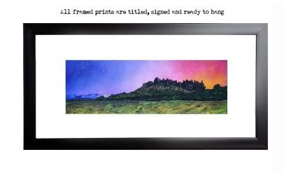 framed print of Stirling Castle Winter Sunrise.