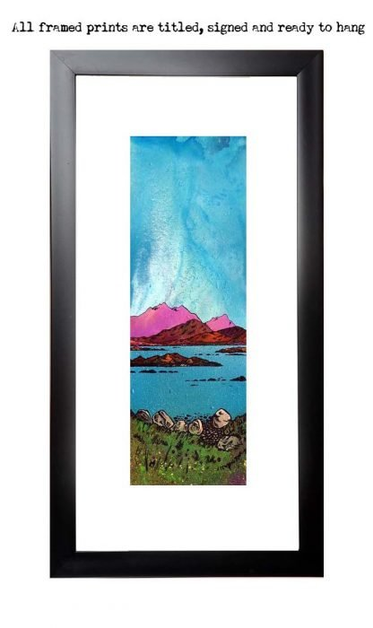Framed print of Loch Druidibeag, South Uist, Scottish Western Isles.