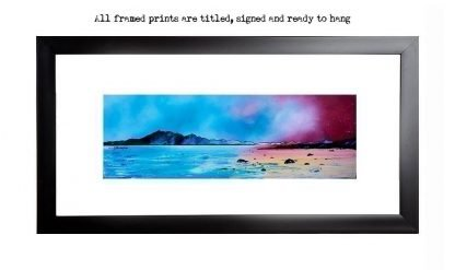 Framed print, picture of Arran from Seamill, Ayrshire, Scotland