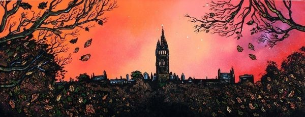 Glasgow University & Kelvingrove Park - Prints of an original painting