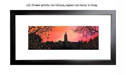 Glasgow University framed print / picture / painting by A Peutherer
