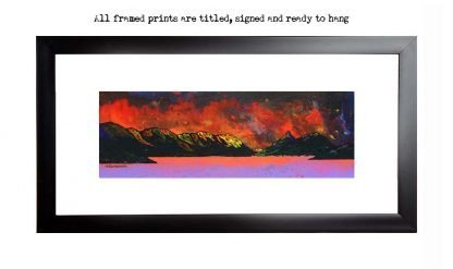 Framed print of Pap of glencoe, loch leven, scotland, Highlands. Picture by scottish artist A Peutherer