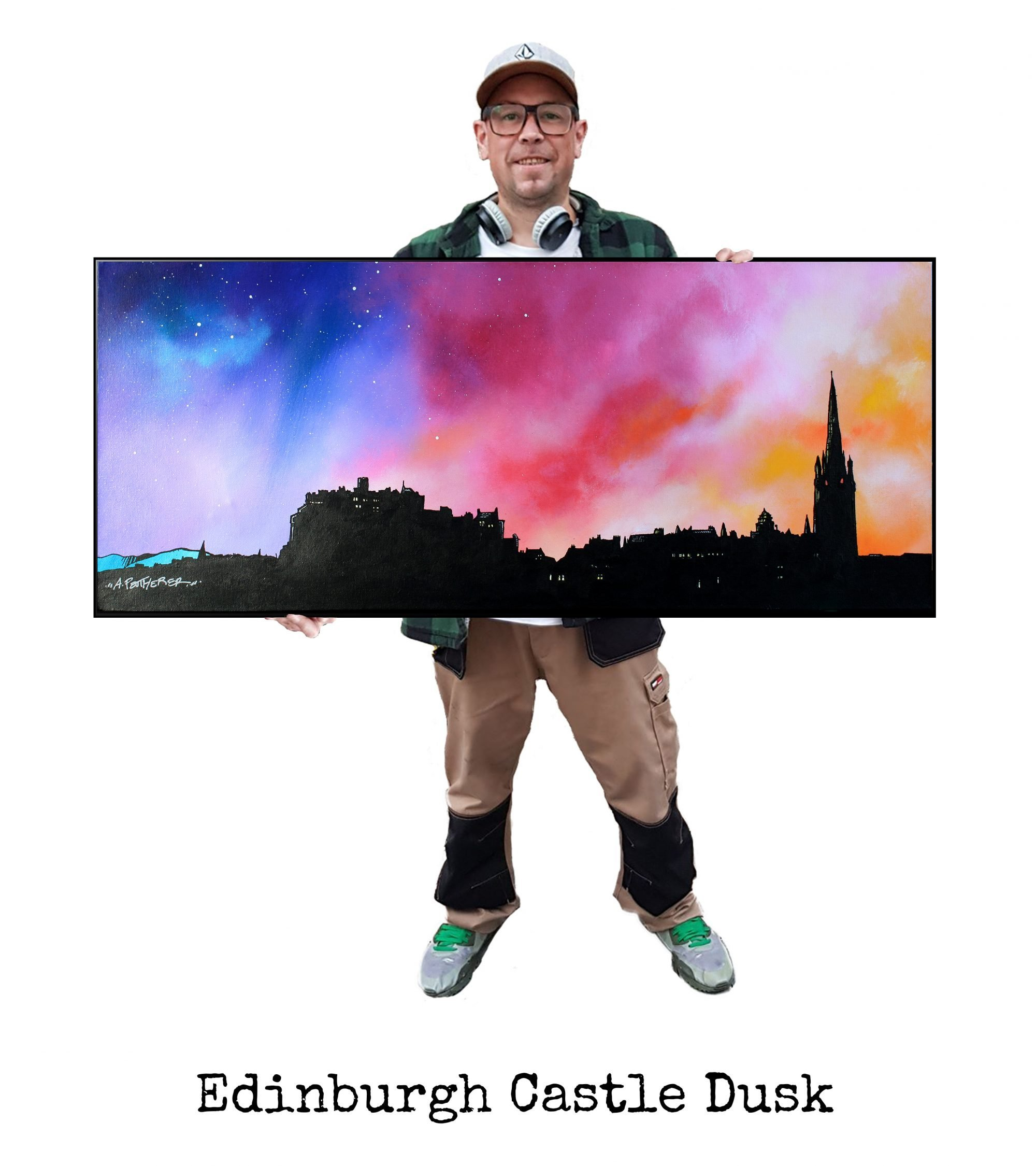 Edinburgh Skyline - Original Painting & Various Print Formats
