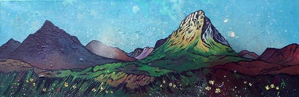 Glen Etive, Buachaille Etive Mor & Glencoe - Prints of an original painting