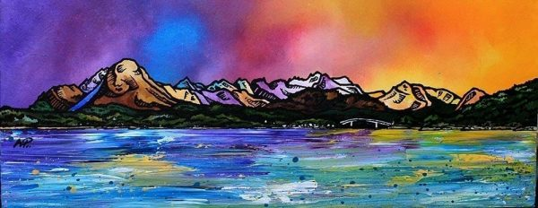 Skye From Balmacara - Prints from the original Scottish landscape painting by contemporary artist Andy Peutherer