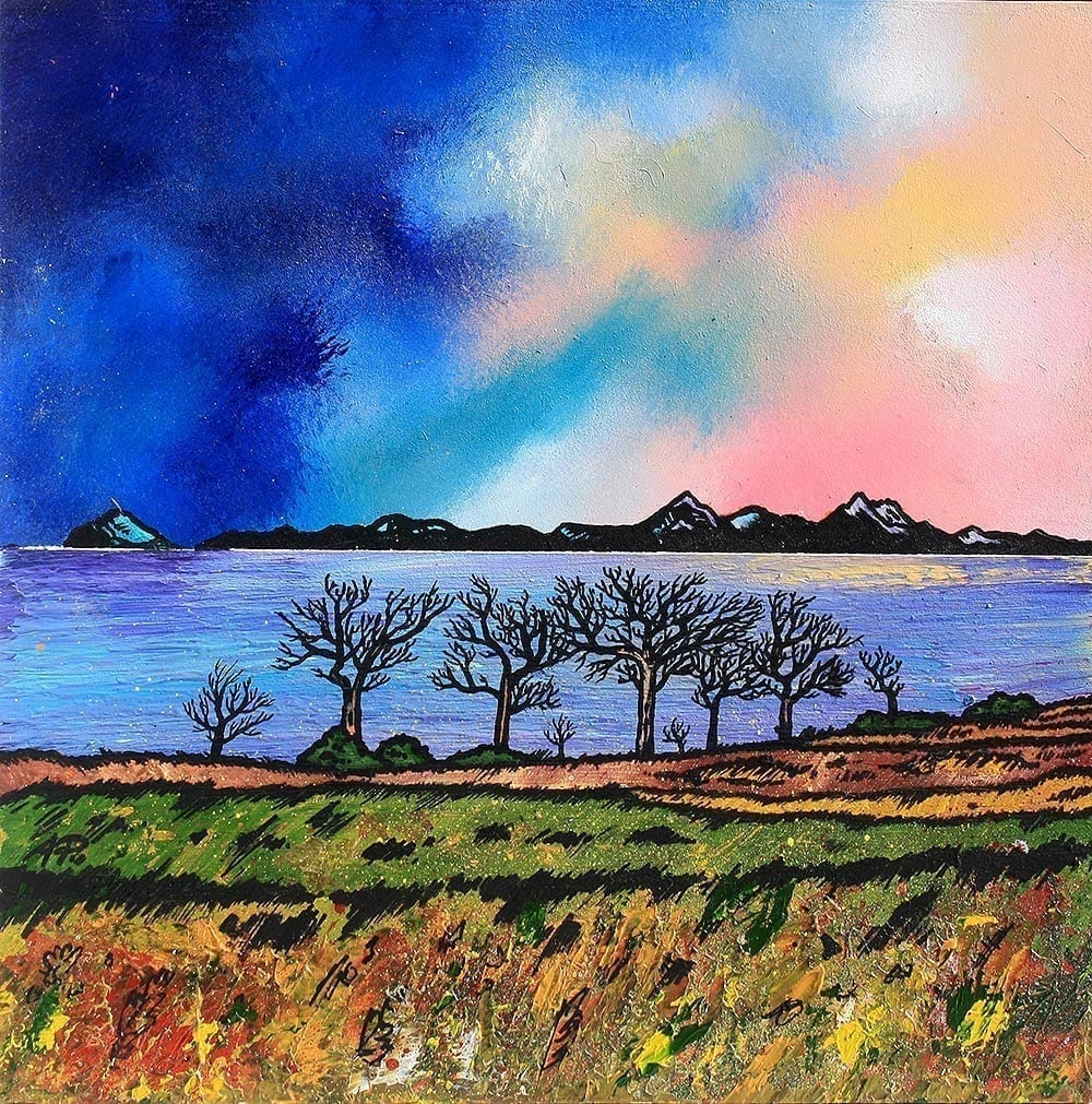 Arran & Ayrshire, painting & prints, Scottish Highlands. An original painting of Scotland by artist A Peutherer