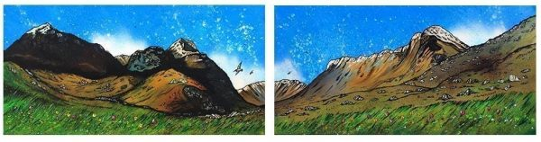 Commissioned Painting of Glencoe & the three sisters, scottish highlands.