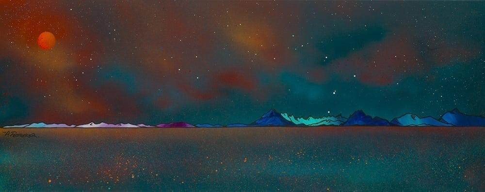 Painting & prints of Cuillin from Elgol, Loch Scavaig, The Isle of Skye, Hebrides.
