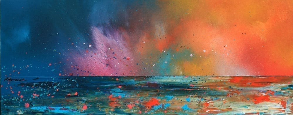 Paintings & prints of Ardnamurchan Summer Sunset, Evening Squall, Scotland