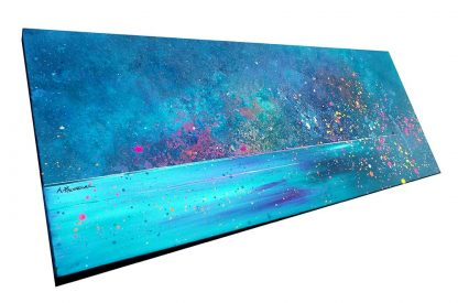 Painting of Harris, Aurora, Northern Lights, Hebrides,