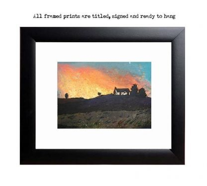 Croft House on Skye framed prints, Scotland