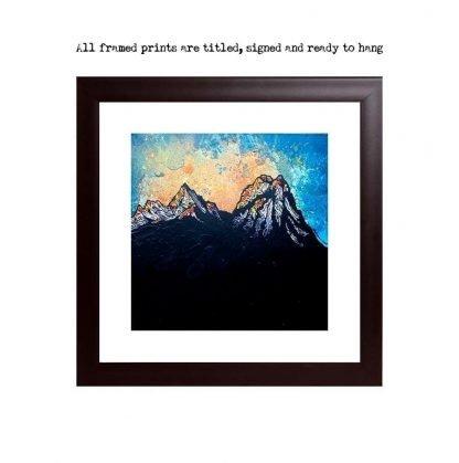 Prints of the Cuillin Winter Sunset, Cuillin, Isle Of Skye, Scotland