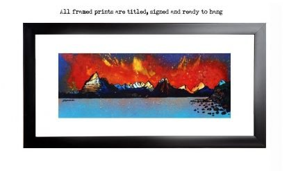 Framed prints of Cuillin Red Sunset, Loch Coruisk, Isle of Skye, Scottish Western Isles.