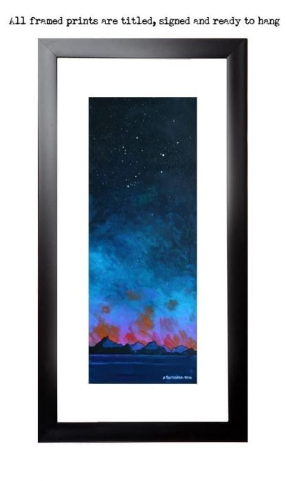 Framed Painting & prints of a Cuillin Skyscape from Elgol, Isle Of Skye, Hebrides, Scotland.