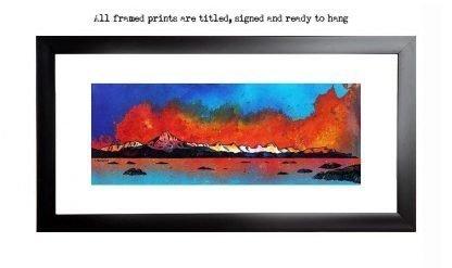 Framed prints of Skye From Arnish Bay Sunset,Hebrides,