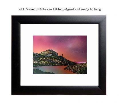 Framed Print of The Old Man of Storr, across Loch Fadda, Trotternish Peninsula, Isle of Skye, Hebrides, Scotland.
