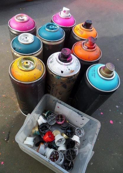 Spray paint for landscape paintings by A Peutherer