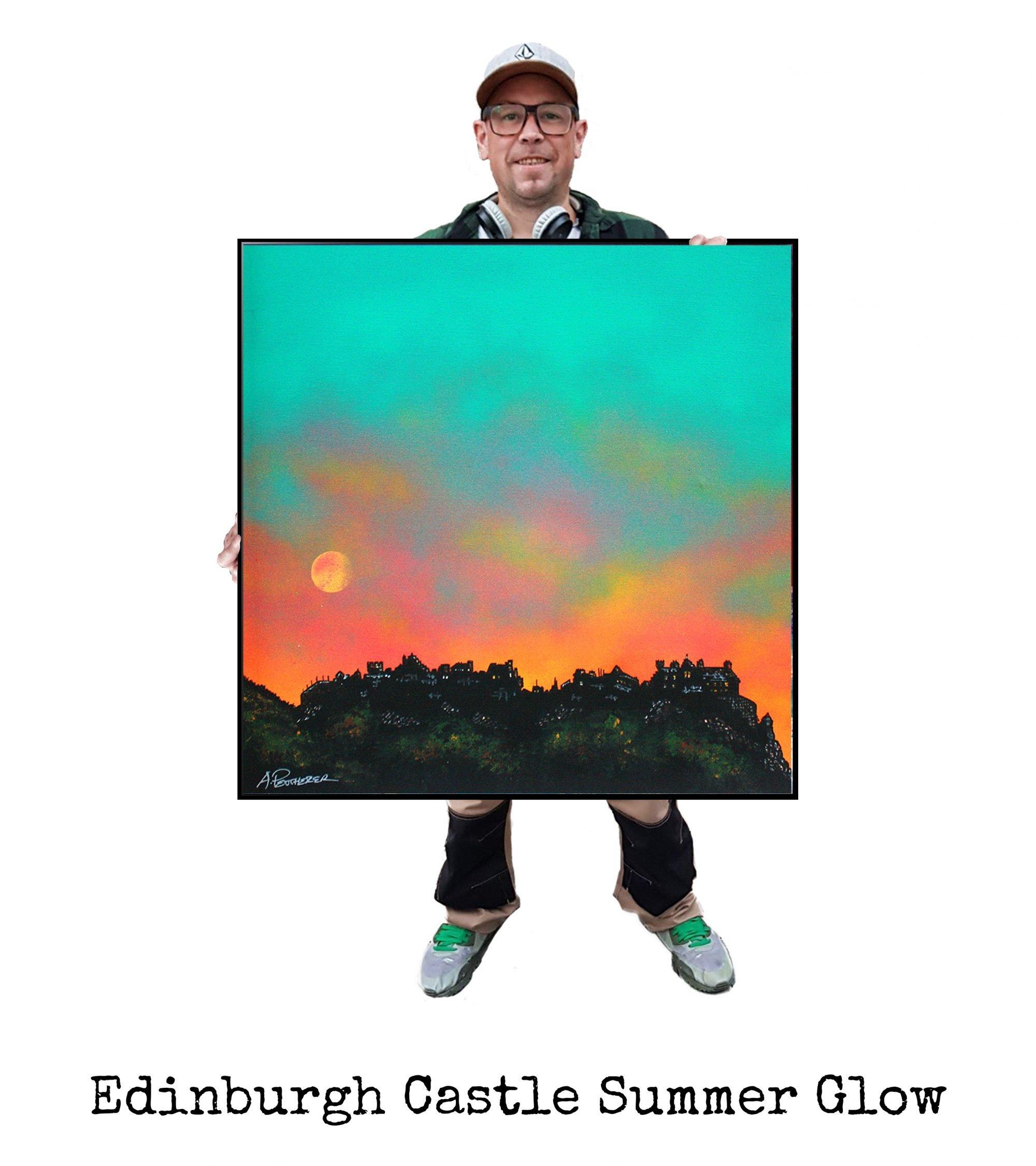 Edinburgh Castle Summer - Original Painting & Various Print Formats