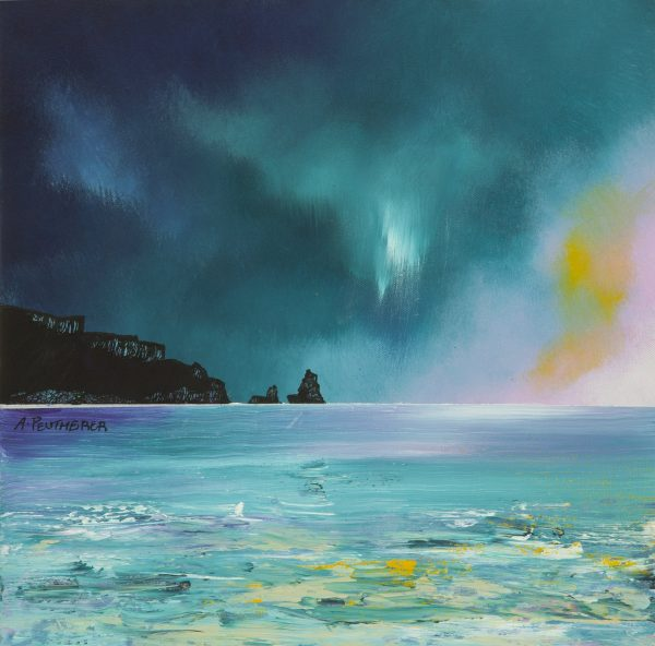 Talisker Bay, Skye - Prints from the original Scottish landscape painting by contemporary Scottish artist Andy Peutherer