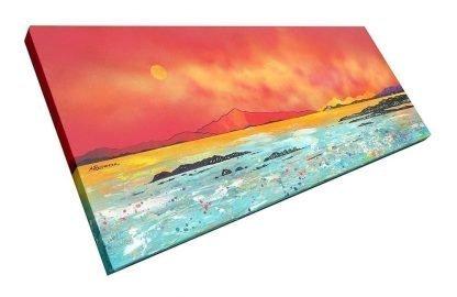 Scottish painting of Luskintyre Bay, Isle of Harris, Hebrides, Scotland.