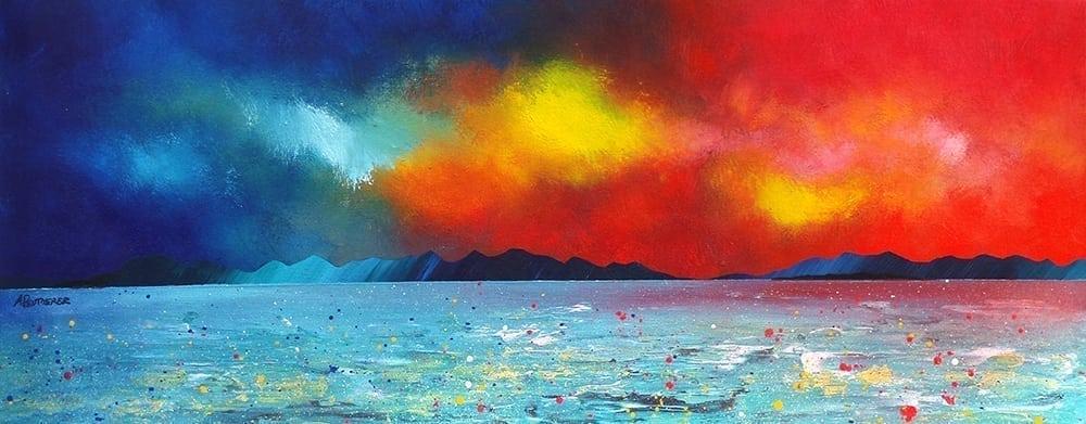 Painting & prints of Oban, Mull & Sound of Kerrera Scottish Highland