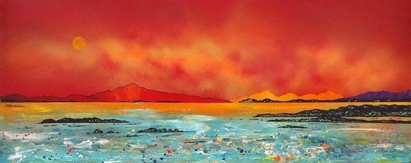Painting & prints of Luskintyre Bay, Isle of Harris, Hebrides, Scotland.