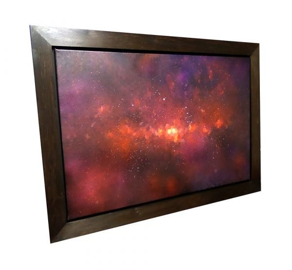 Abstract space graffiti painting