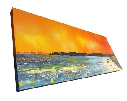 Commissioned painting of St Andrew's Beach, Fife, Scotland.