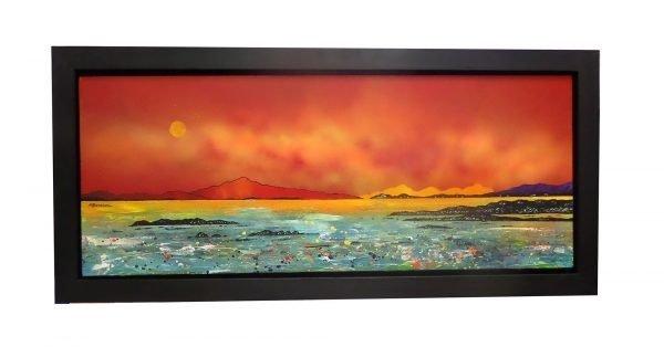 Painting of Luskintyre Bay, Isle of Harris, Hebrides, Scotland.