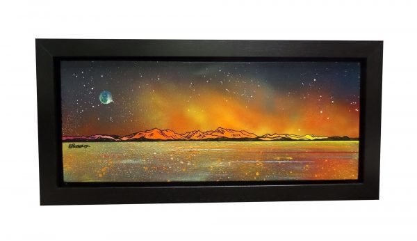 Painting & prints of Arran from Largs, Ayrshire, Scotland