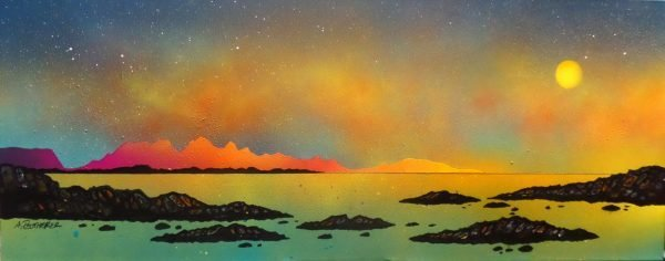 Arisaig, Rum & Eigg, Scotland-Painting & prints by Scottish landscape artist Andy Peutherer.