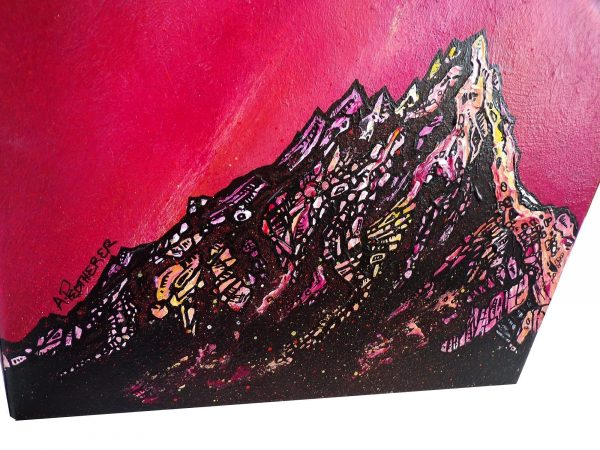Cir Mhor, Arran, Scotland - An Original Painting & Prints By A Peutherer. Detail Shot.