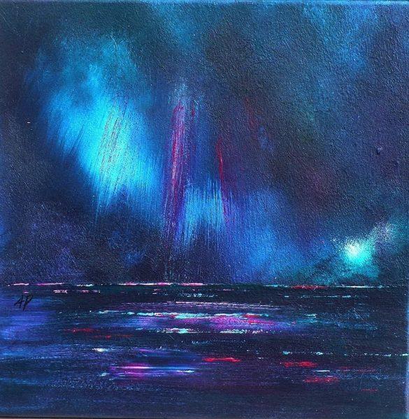 Loch Ness Breaking Light, Highland, Scotland. An original painting & prints