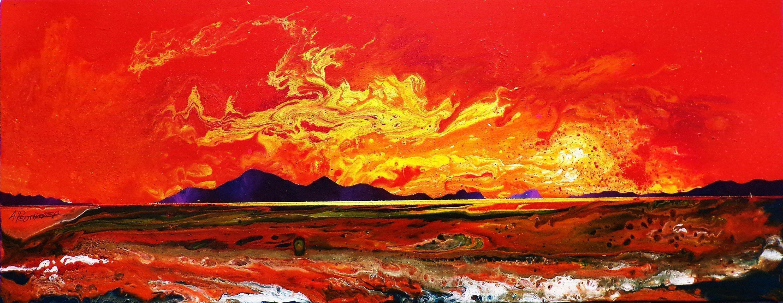 Painting & prints of Luskintyre Beach, Isle Of Harris, Hebrides, Scotland.