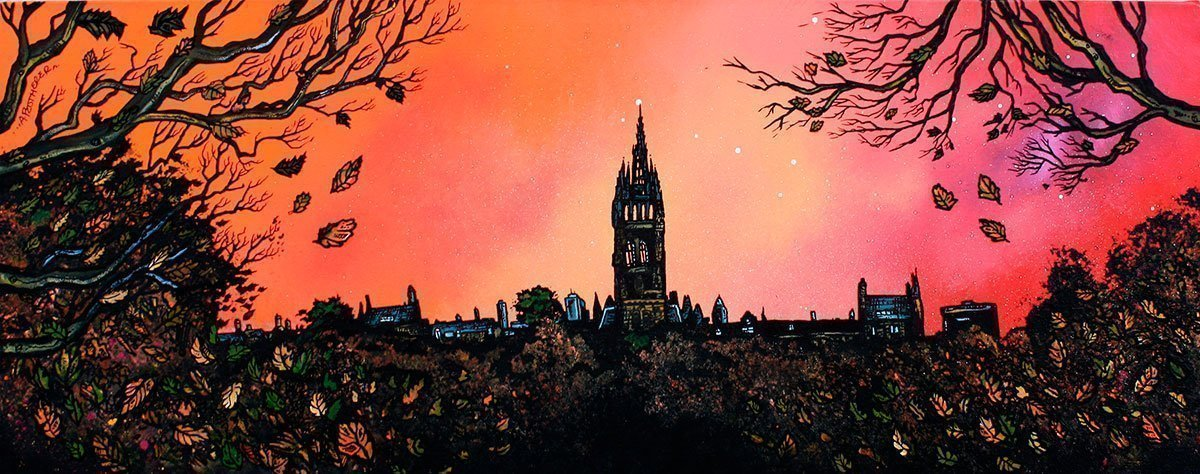 University of Glasgow, kelvingrove, Scotland - Prints by artist Andy Peutherer