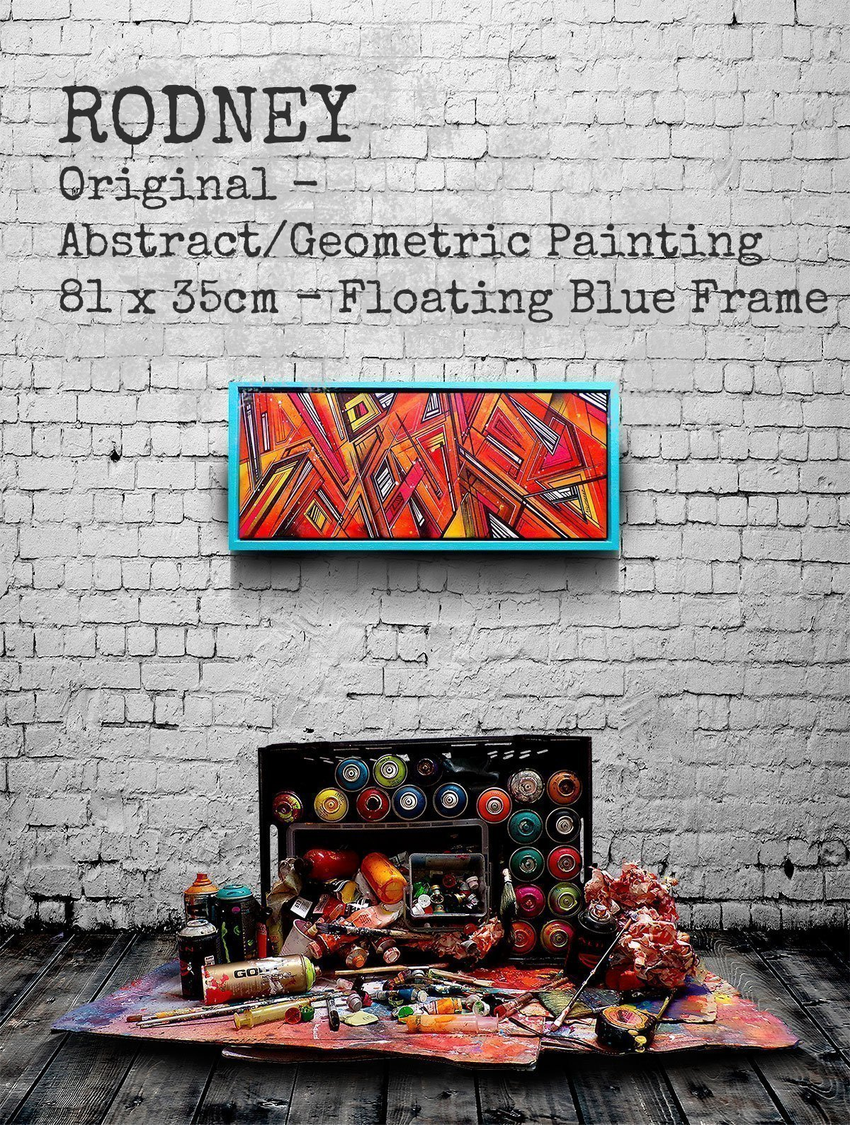 Rodney - An Abstract Geometric Painting (framed) & Fine Art Prints
