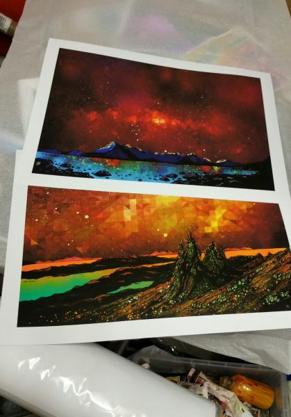 Storr and Cuillin, Skye prints - Large Giclee prints ready to roll, yube and post