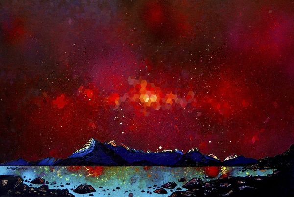 Nebula over Skye and The Cuillin from Elgol - Prints of original paintings by A Peutherer and M Campbell