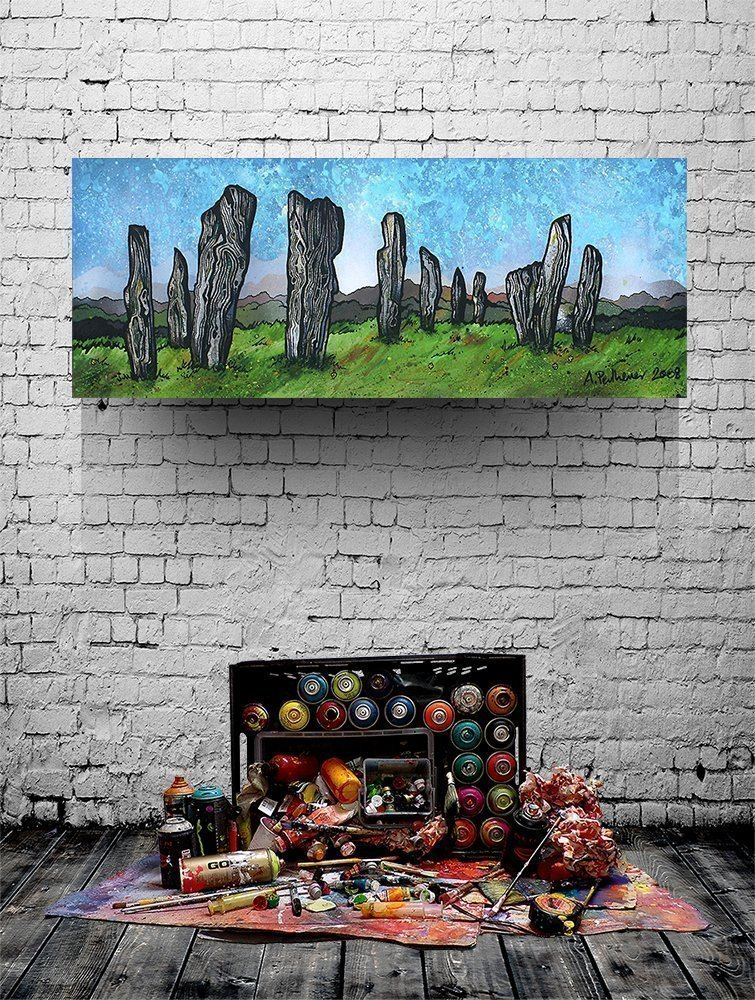 Callanish Standing Stones, Lewis, Outer Hebrides - Custom sized floating PVC Mounted Print