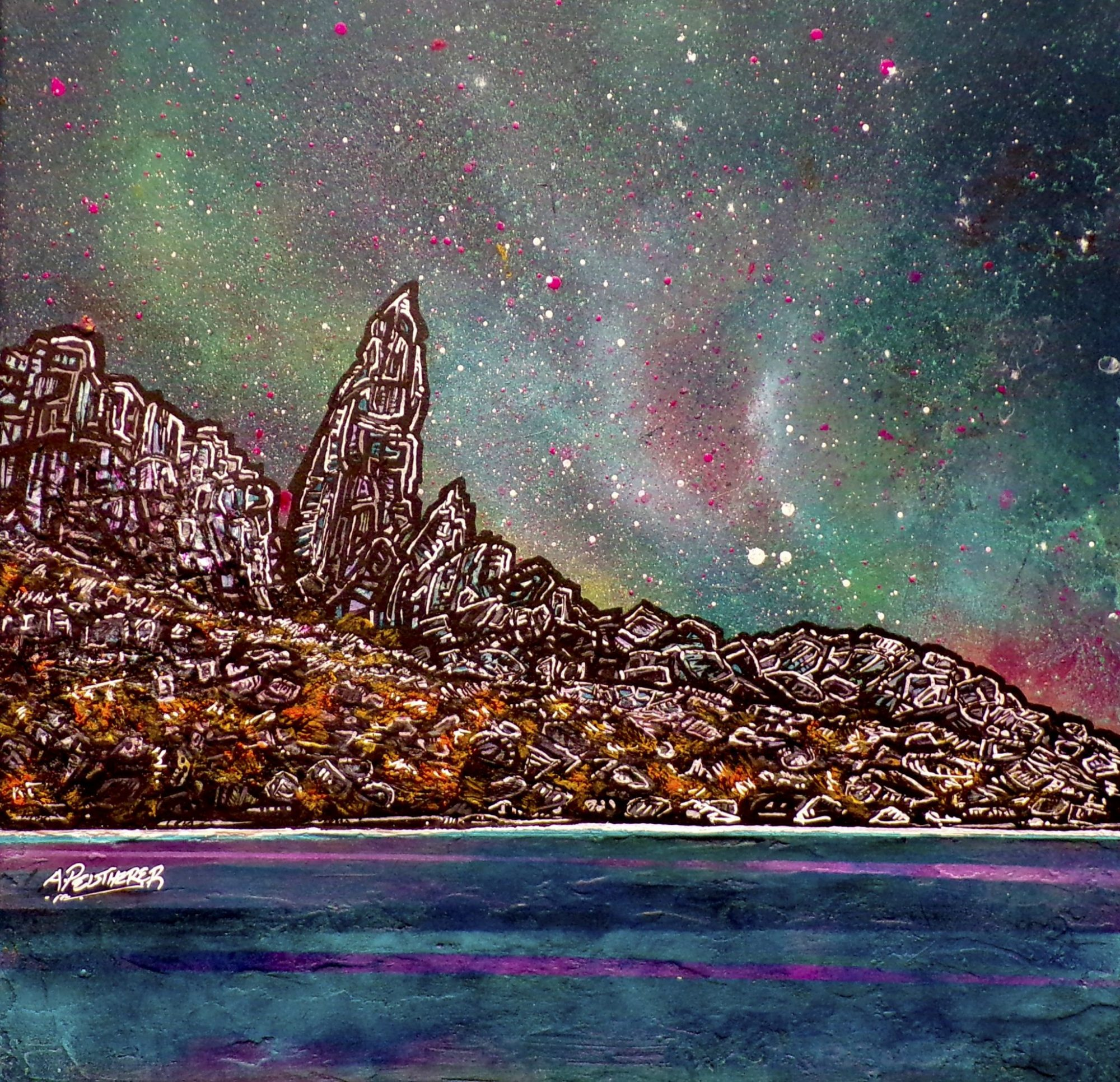 Storr, Trotternish, Skye - Original Scottish landscape painting and prints by artist A Peutherer