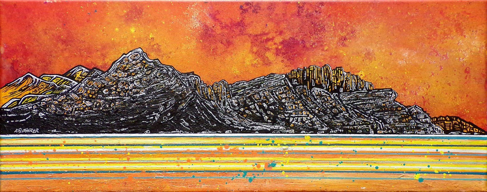 Trotternish Ridge, Near Sconser, Skye - Original painting and prints