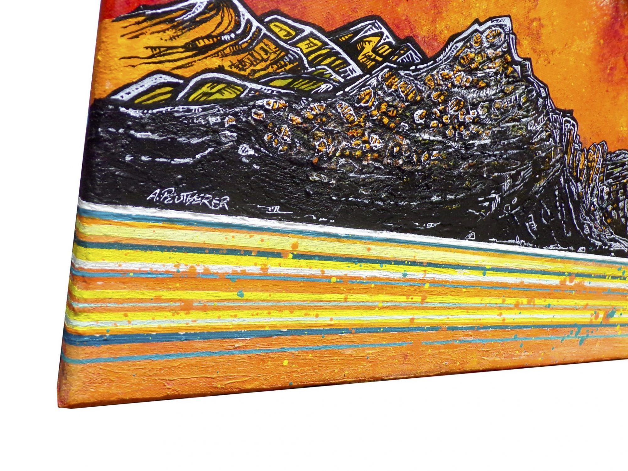 Trotternish Ridge, Near Sconser, Skye - Original painting and prints (detail shot)