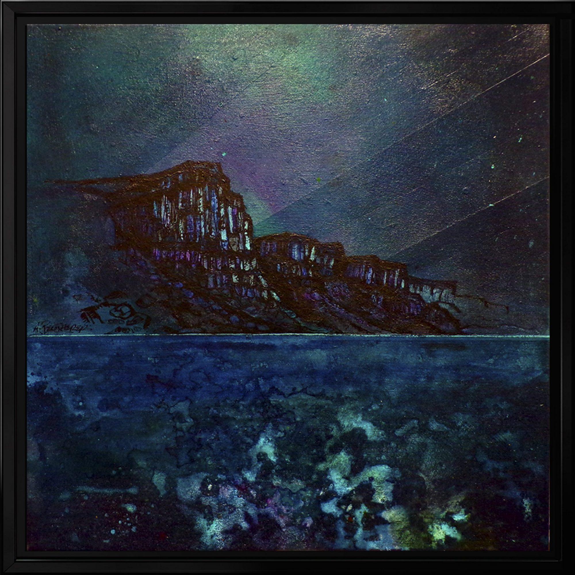 Kilt Rock, Skye - Framed seascape Painting by Scottish artist A Peutherer
