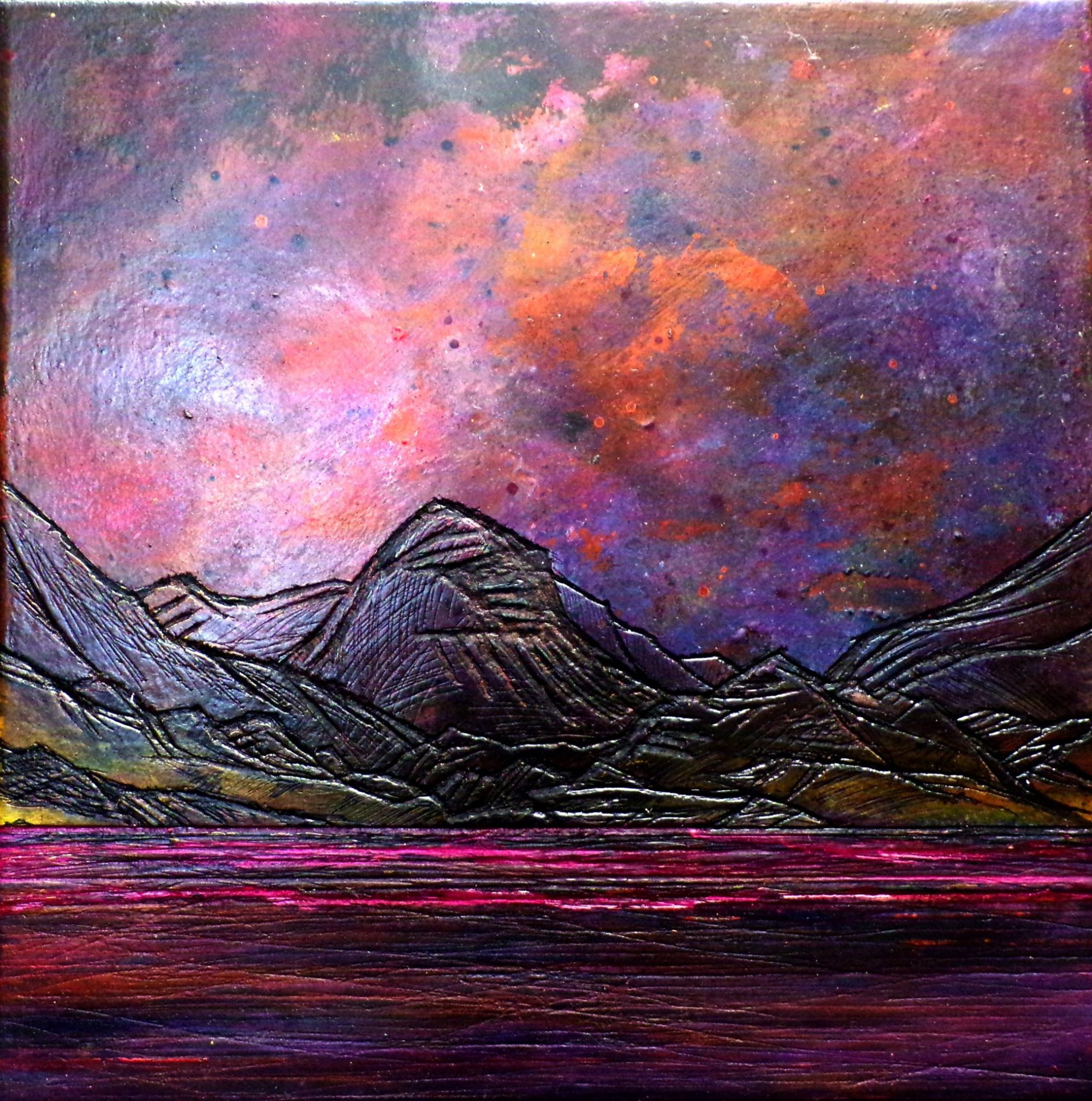 Canvas painting and prints of Marsco, Glen Sligachan, Skye by artist Andy Peutherer