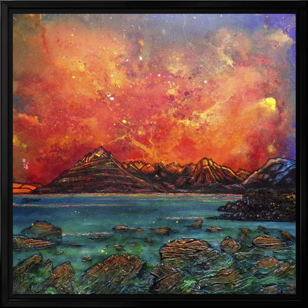 Skye and The Cuillin from Elgol - Original canvas painting and prints by artist Andy Peutherer
