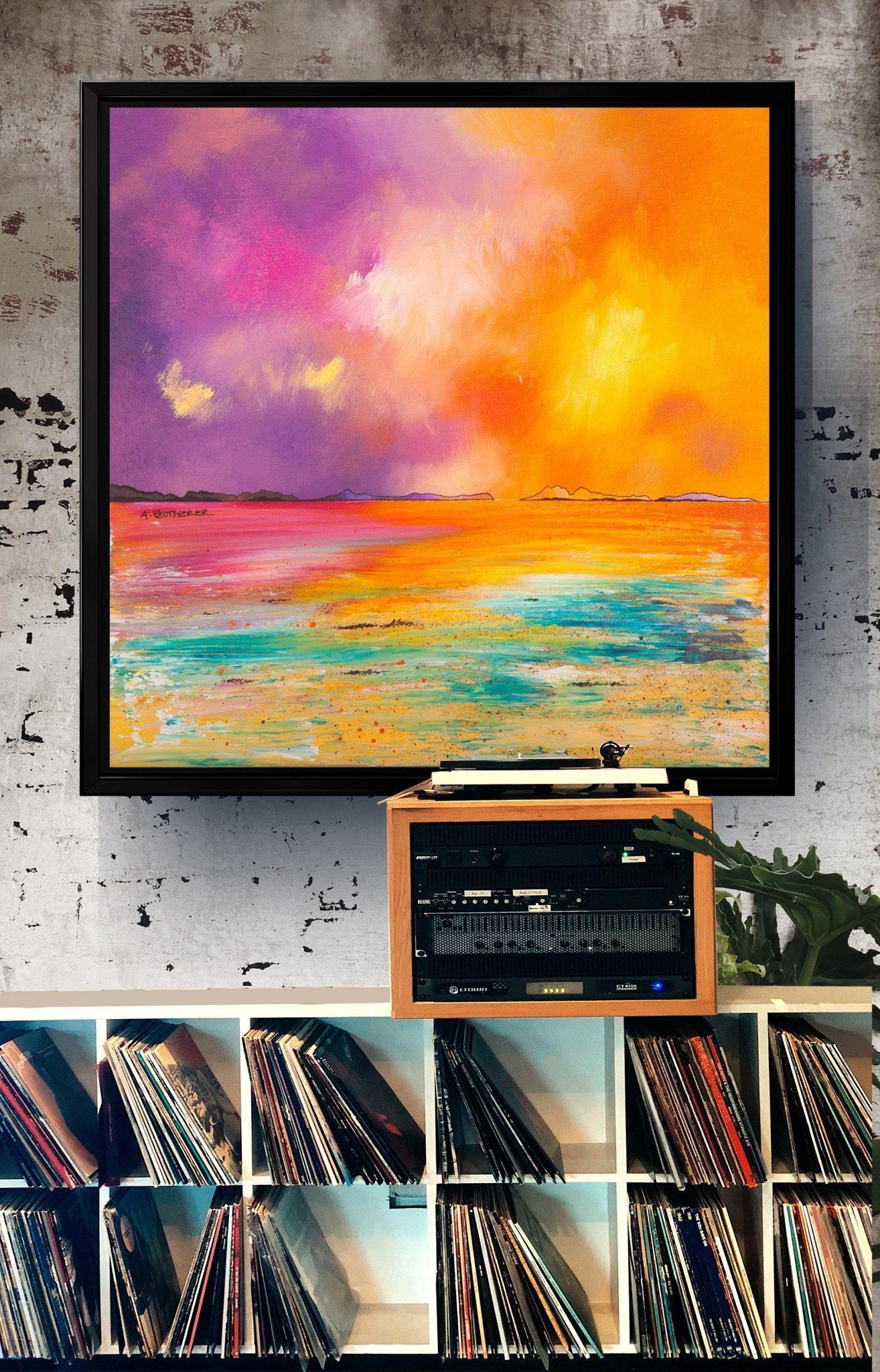 Camusdarach Beach as a canvas print with a floating frame
