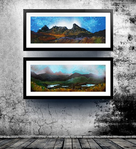 Framed Prints of The Cobbler, Arrochar & Airdhbruach, Lewis. Scottish landscape paintings by A Peutherer