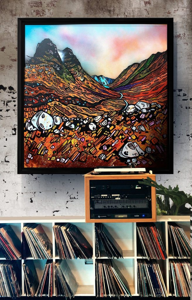 Elements of Glencoe as a canvas print with a floating frame