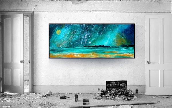 Horgabost Beach, Harris, Hebrides, Scotland - Block mounted print in a custom size