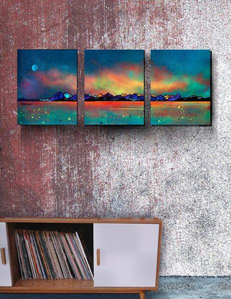 Applecross, Skye canvas prints - custom triptych